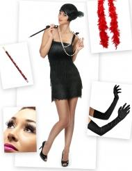 Set Costume Charleston rosso e nero per donna