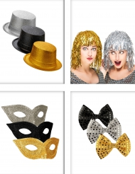 Set Accessori per festa nero, oro e argento