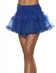 Sottogonna blu per donna
