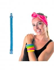 Bracciale zip azzurro per adulto