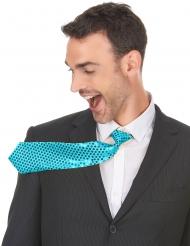 Cravatta turchese con paillettes per adulto