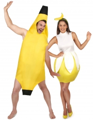 Costume coppia di banana per adulti