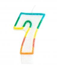 Candela di compleanno numero 7