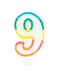 Candela compleanno n° 9