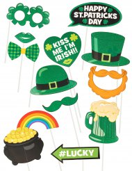 Kit 13 accessori potobooth Saint Patrick Day