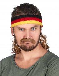 Fascia con colori bandiera tedesca e baffi
