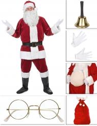Set costume Babbo Natale Deluxe