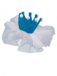 Mini fermaglio da principessa azzurro