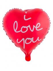 Palloncino alluminio a cuore rosso I love you 52 x 46 cm