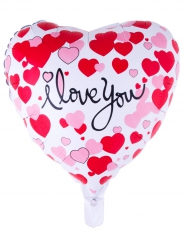 Palloncino in alluminio a cuore I love you 52 x 46 cm