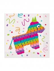 16 Tovaglioli piccoli festa messicana in carta 25 cm