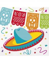16 tovaglioli festa messicana