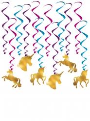 12 decorazioni da appendere Unicorni