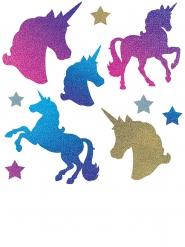 10 Ritagli Unicorno in cartone con brillantini