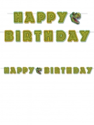 Ghirlanda da assemblare Happy Birthday tema Dinosauro