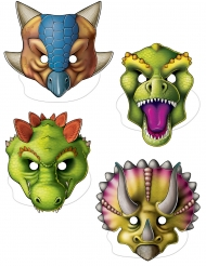 kit 4 maschera dinosauro in cartone