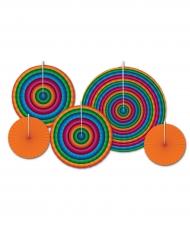 Rosoni di carta da appendere multicolori