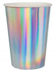 10 Bicchieri in cartone iridescente 8 x 10 cm
