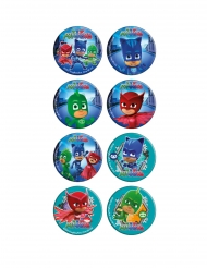 16 mini dischi in zucchero Superpigiamini™ 3.4 cm