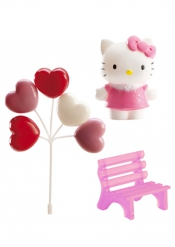 Kit decorazioni per torta Hello kitty™ 6.5 cm