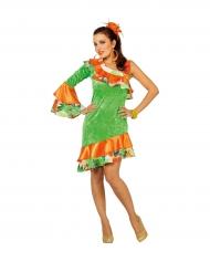 Costume da ballerina di rumba in verde per donna
