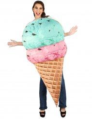 Costume da cono gelato per adulto