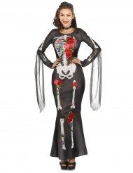 Costume scheletro dia de los muertos per donna