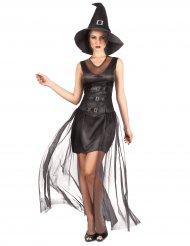 Costume da strega nera chic per donna