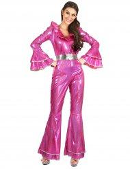 Costume disco rosa per donna