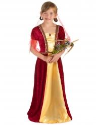 Costume da contessa medievale in rosso per bambina