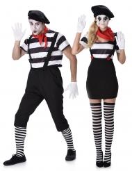 Costume di coppia da mimo per adulto