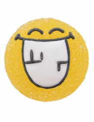 6 Decorazioni in gelatina e zucchero Smiley World™ 3 cm