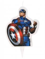 Candela di compleanno Avengers™ Capitan America™ 6 x 7.3 cm
