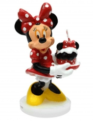 Candela compleanno 3D Minnie™ 4.5 x 9 cm