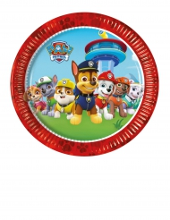 8 piatti piccoli in cartone rossi Paw Patrol™ 20 cm