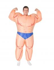 Costume da uomo muscoloso gonfiabile per adulto