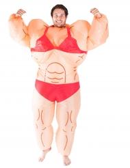 Costume da donna muscolosa gonfiabile per adulto