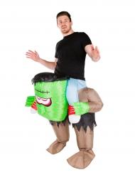 Costume da mostro verde gonfiabile per adulto