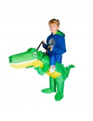 Costume coccodrillo gonfiabile bambino