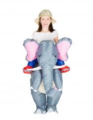 Costume elefante gonfiabile bambino
