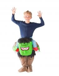 Costume da Mostro verde gonfiabile per bambino