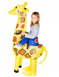 Costume da giraffa gonfiabile bambino