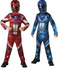 Costume di coppia Power Rangers ™  rosso e blu per bambini
