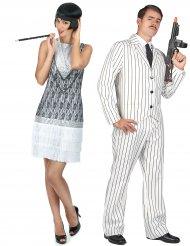 Costume da coppia gangster e charleston per adulti