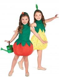 Costume di coppia frutta fresca ananas e fragola per bambina