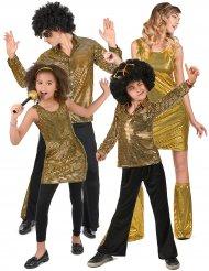 Costume famiglia disco dorata