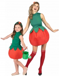 Costume di coppia frutta fresca fragole Mamma e figlia