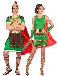 Costume coppia soldati romani per adulti
