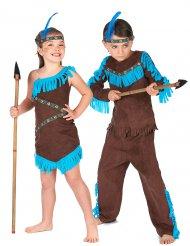 Costume coppia indiani marroni per bambino