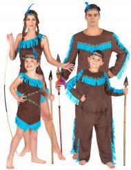 Costume da famiglia di indiani